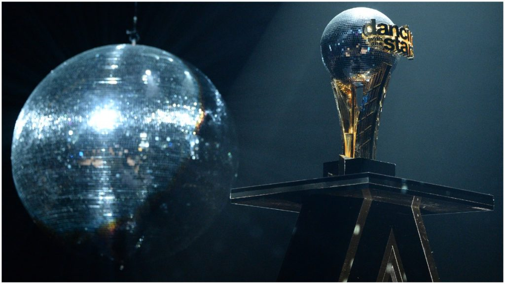 Dancing With the Stars mirrorball on display.