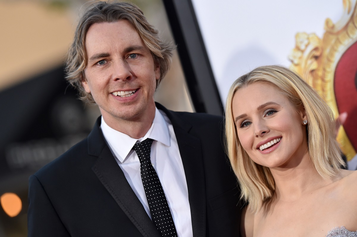 (L-R) Dax Shepard and Kristen Bell arrive at the premiere of USA Pictures' 'The Boss' on March 28, 2016, in Westwood, California.