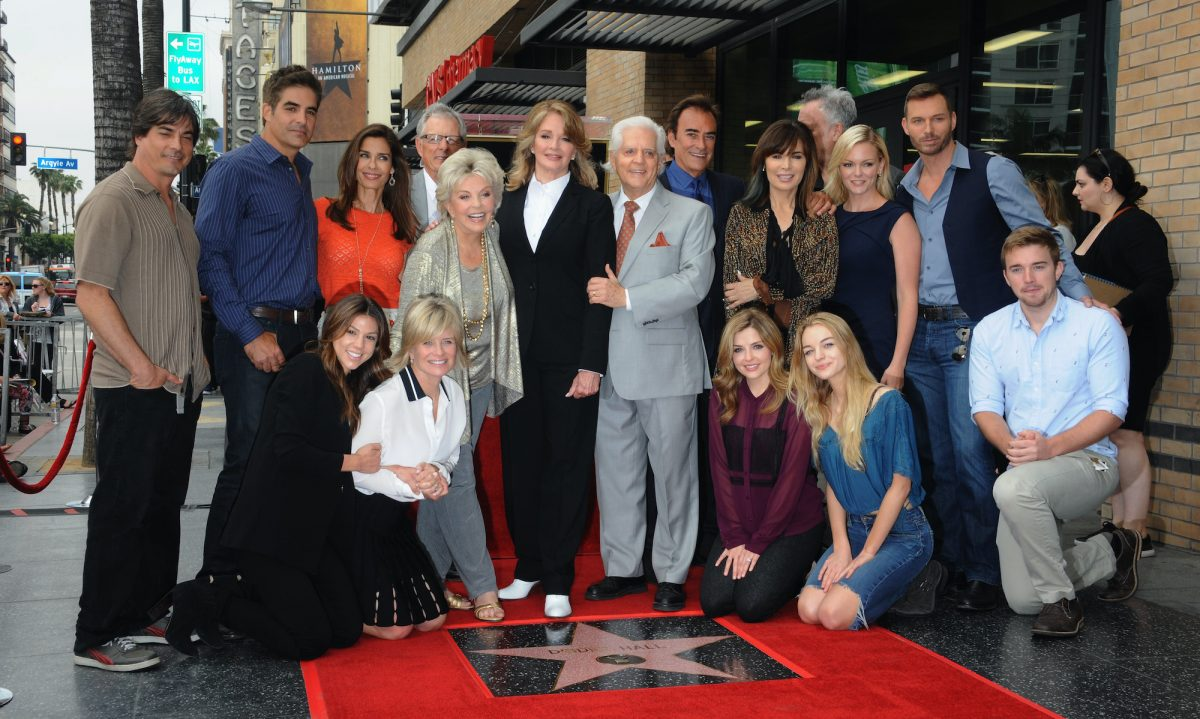 Deidre Hall and cast members from 'Days Of Our Lives'