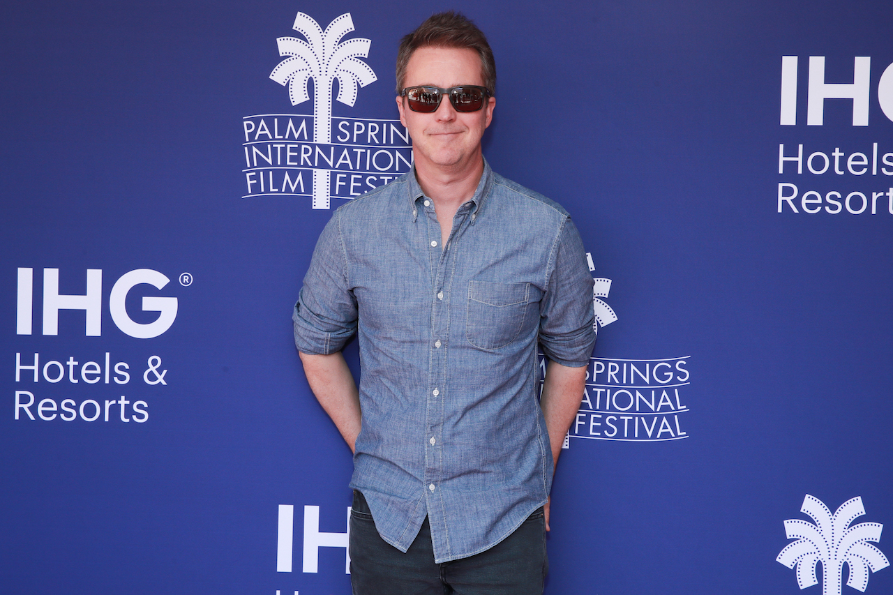 """Edward Norton attends the Talking Pictures screening of """"Motherless Brooklyn"""" during the 31st Annual Palm Springs International Film Festival"""