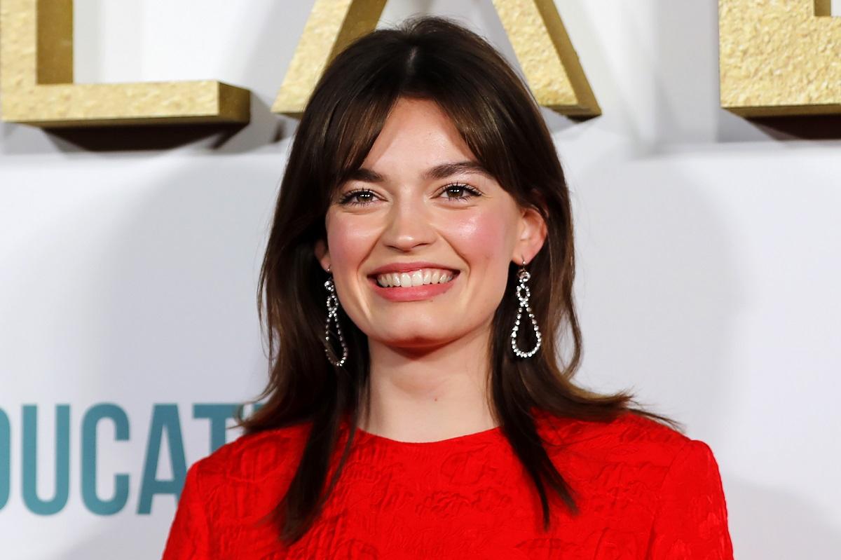 Emma Mackey poses at the world premiere of Netflix's 'Sex Education' Season 2 in London on January 8, 2020.
