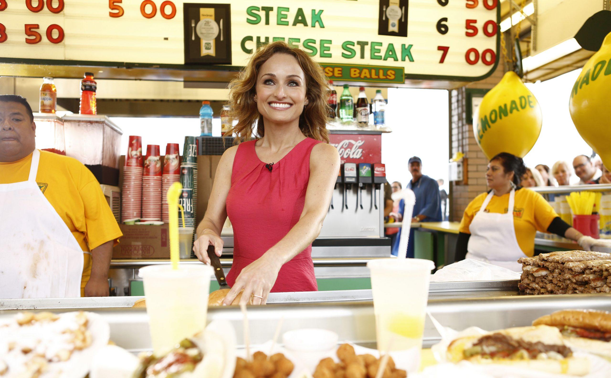 Food Network star Giada De Laurentiis prepares a recipe on morning show 'Today', 2013