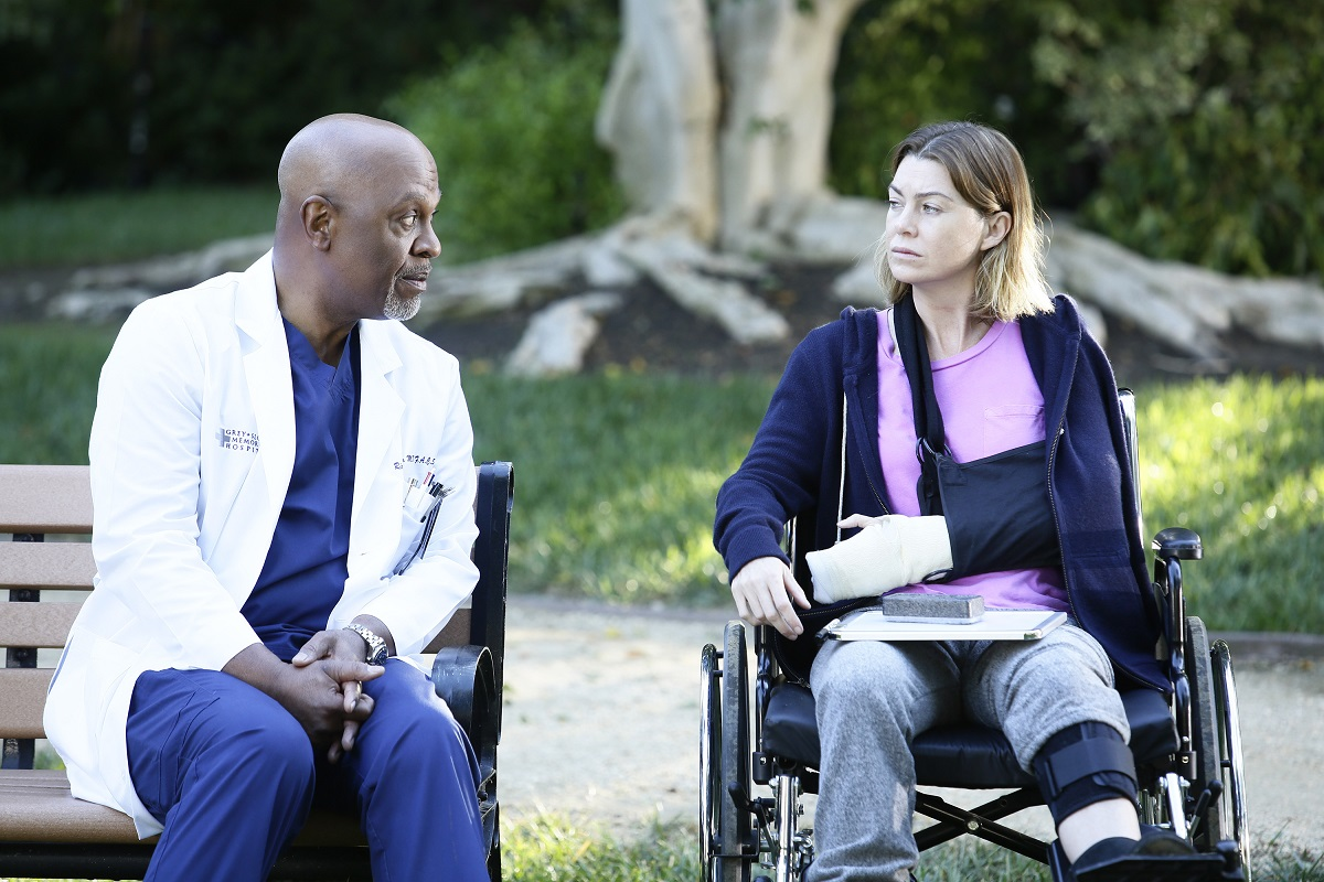 (L-R) James Pickens Jr. and Ellen Pompeo in 'Grey's Anatomy' episode 'The Sound of Silence'