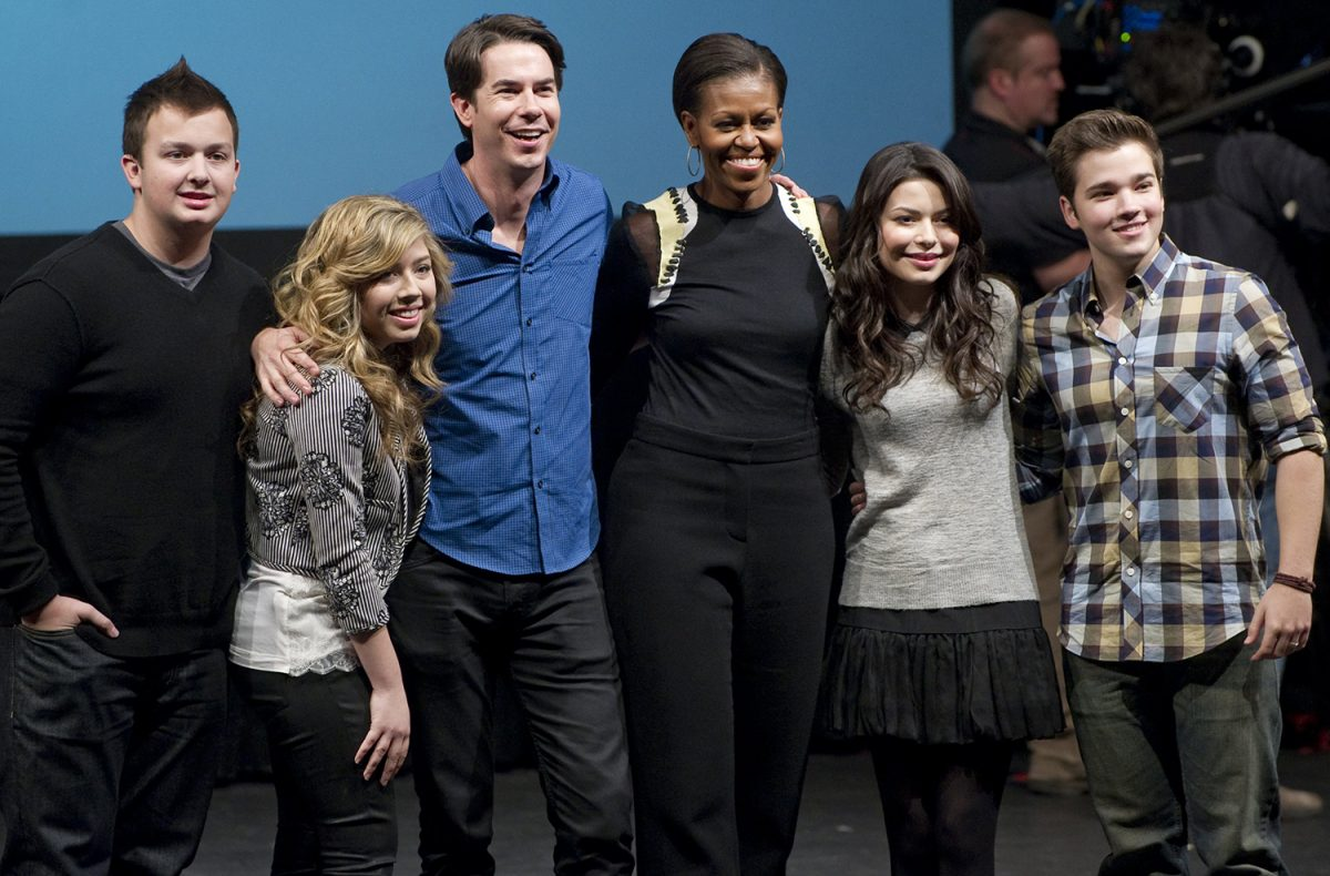 The 'iCarly' cast with Michelle Obama in 2012