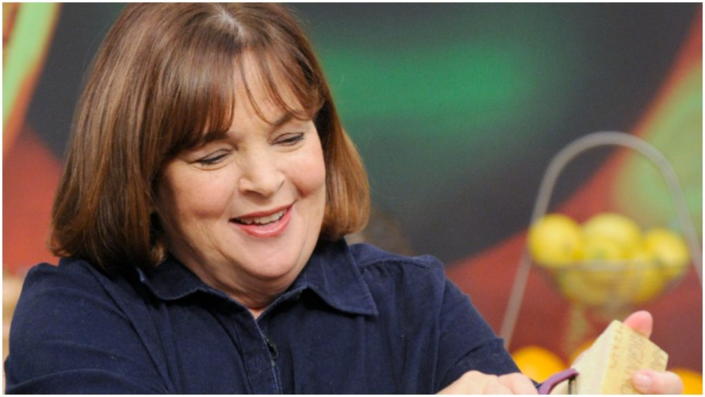 Ina Garten cooks for viewers.