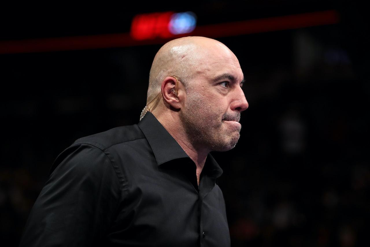 Joe Rogan at the UFC 225: Whittaker v Romero 2 event at the United Center