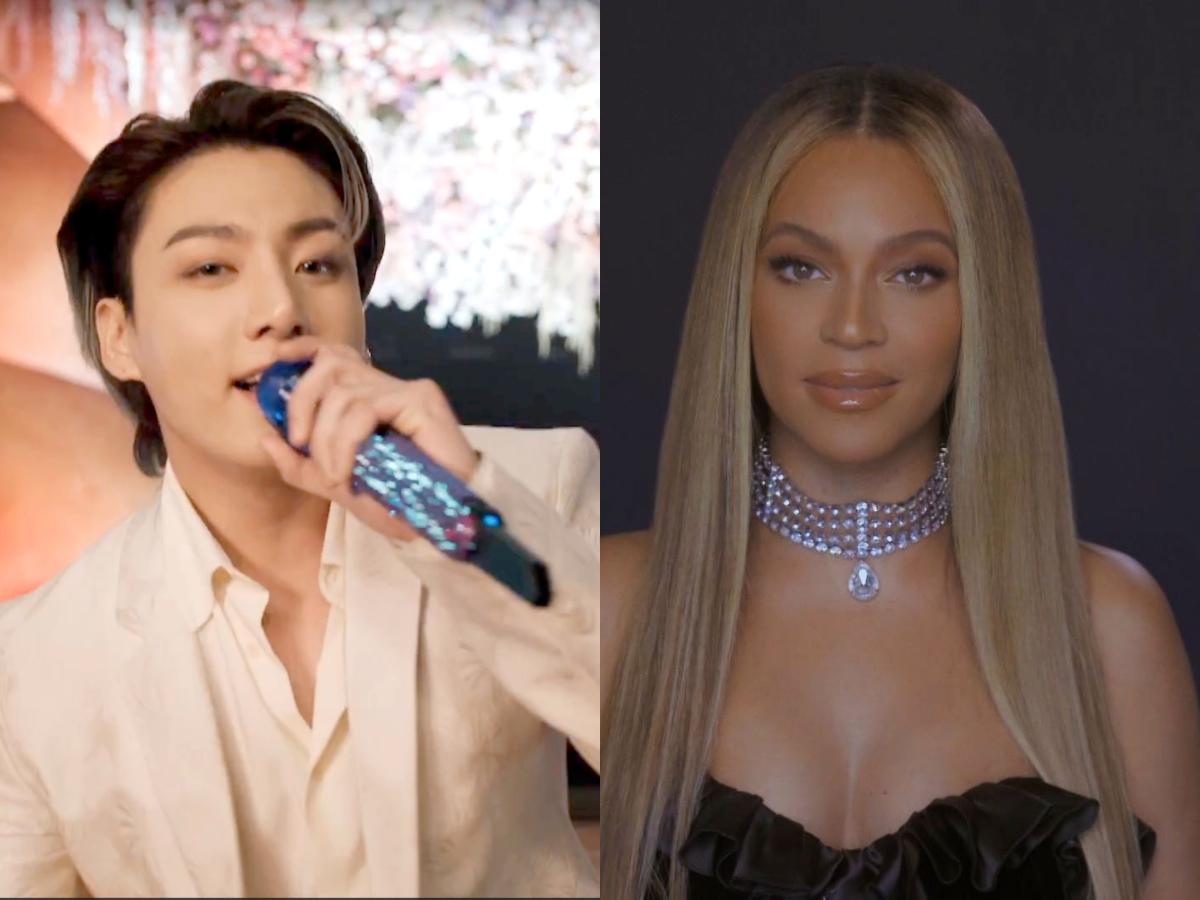Jungkook of BTS at 2021 Grammy Awards; Beyoncé at 2020 BET Awards