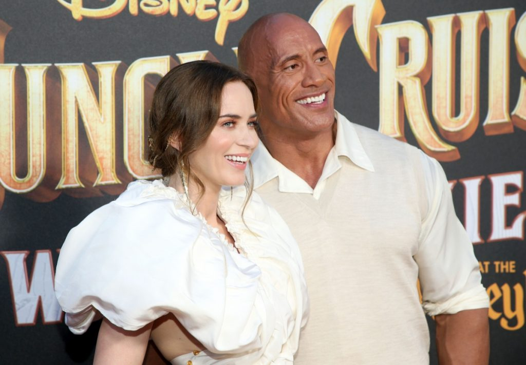 Emily Blunt and Dwayne 'The Rock' Johnson attend premiere of 'Jungle Cruise' at Disneyland