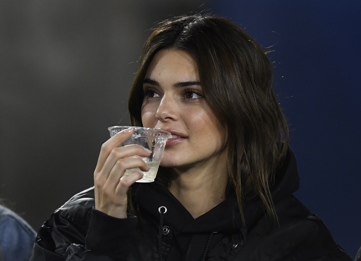 Kendall Jenner attends a football game between Baltimore Ravens and Los Angeles Rams on November 25, 2019, in Los Angeles, California.