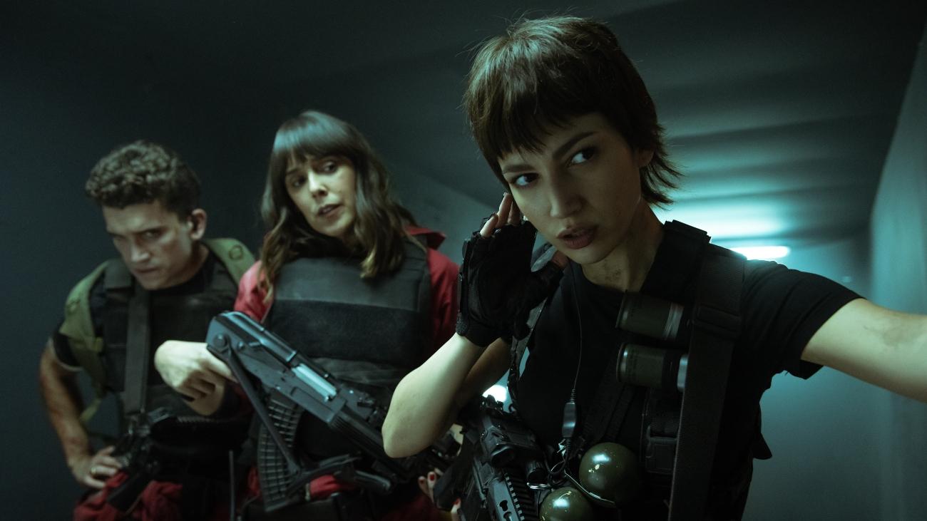 'Money Heist' Season 5 with Jaime Lorente as Denver, Belén Cuesta as Manila, Úrsula Corbero as Tokyo