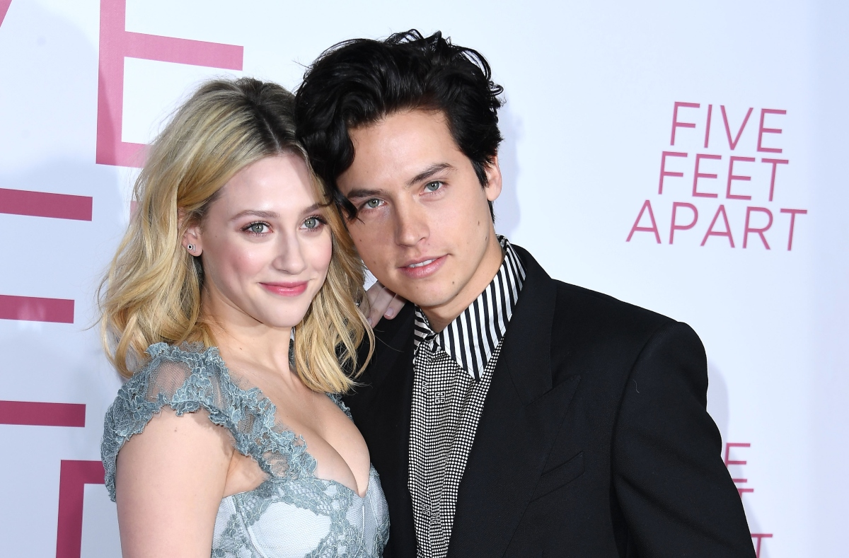 Lili Reinhart and Cole Sprouse at the 'Five Feet Apart' premiere, 2019