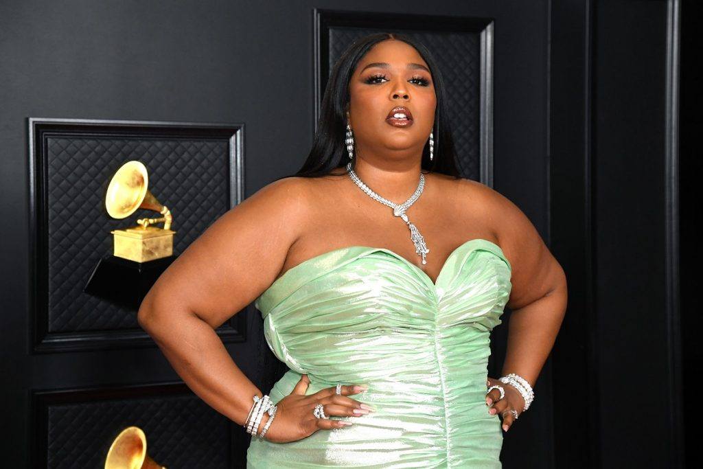 Lizzo attends the 63rd Annual GRAMMY Awards on March 14, 2021, in Los Angeles, California.