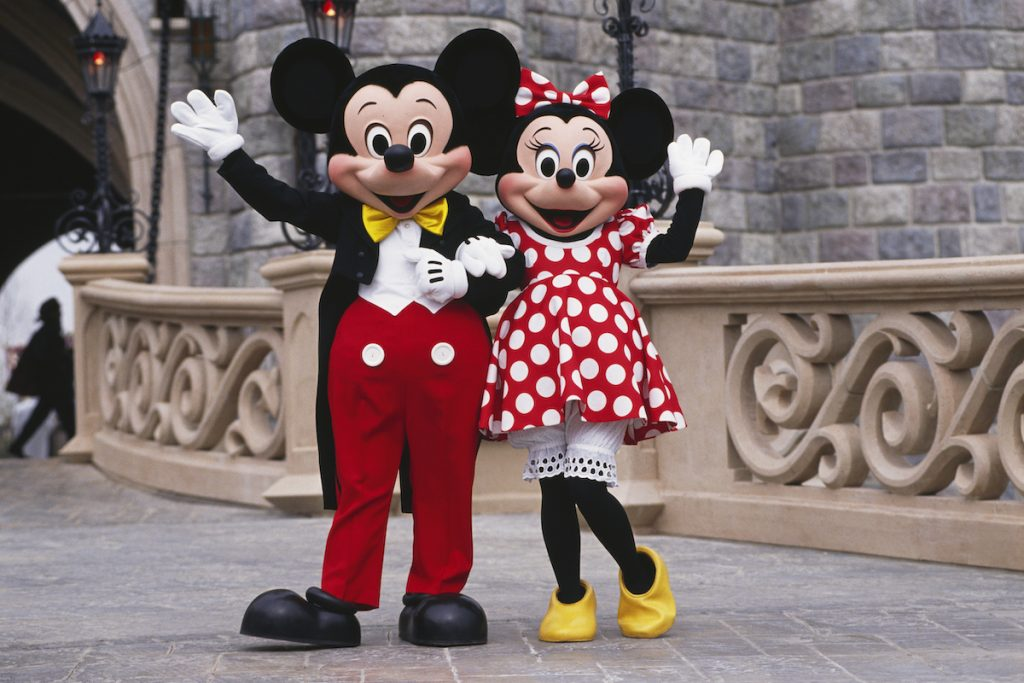 Characters Mickey and Minnie Mouse