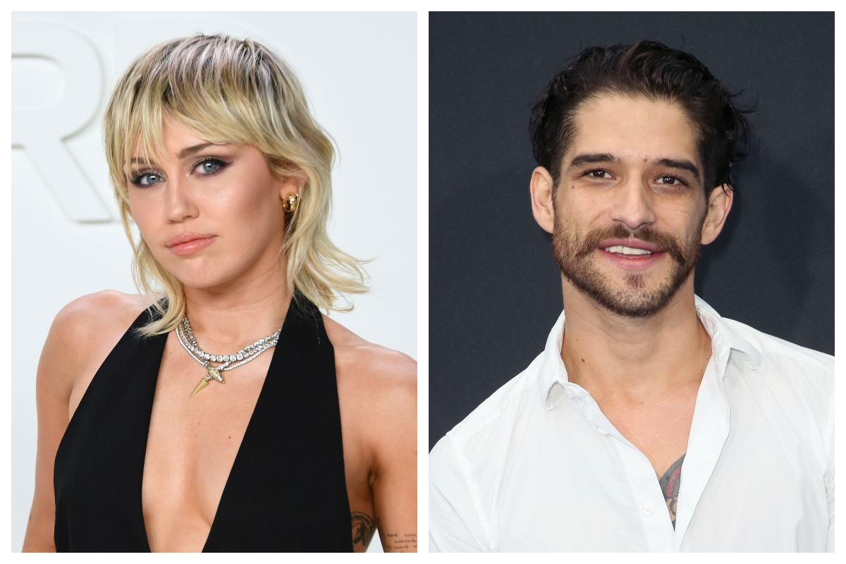 composite image of Miley Cyrus (L) and Tyler Posey