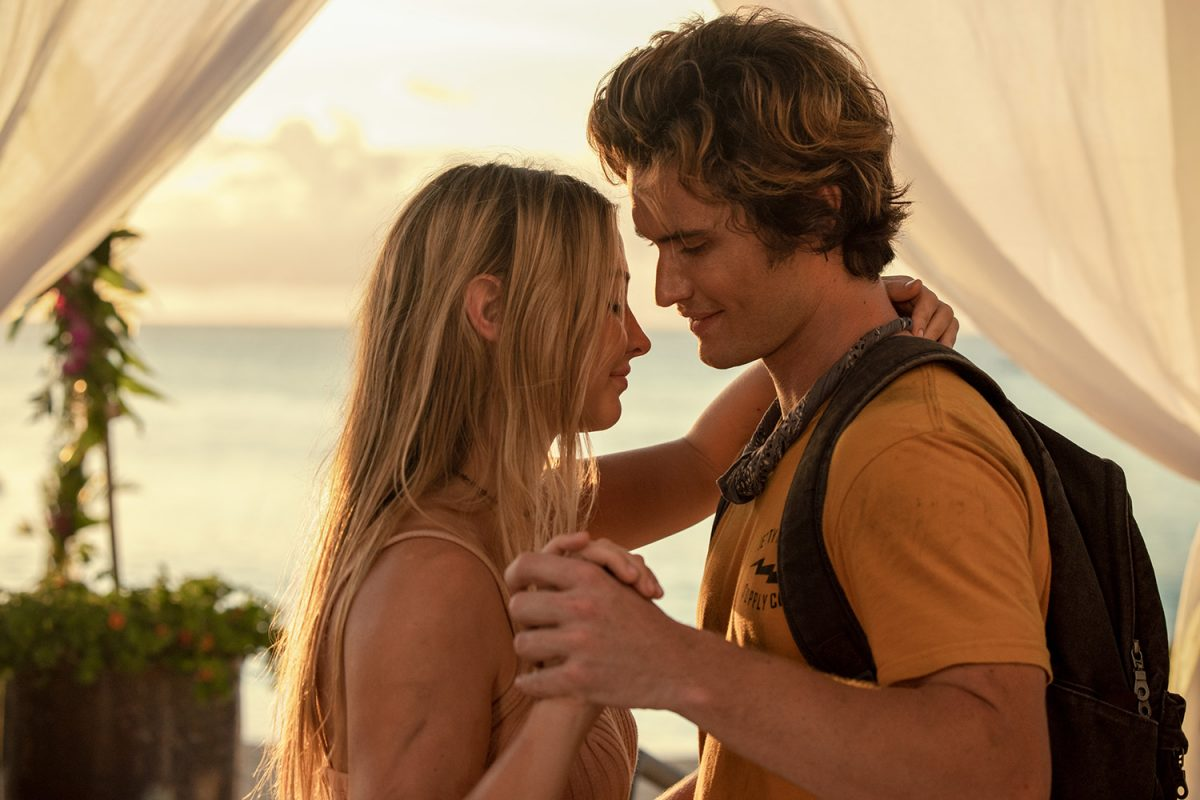 Outer Banks stars Madelyn Cline and Chase Stokes filming in Barbados