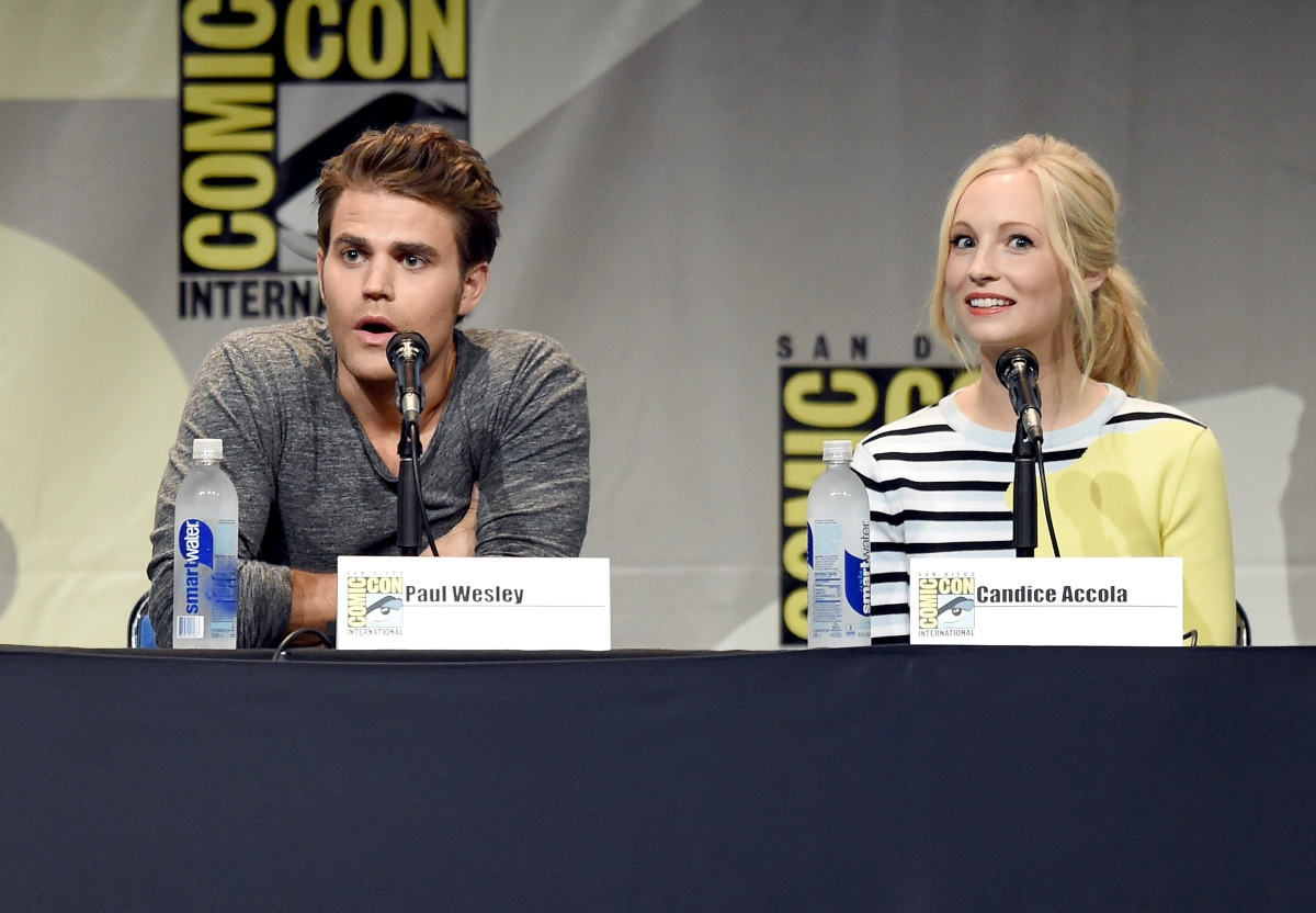 Paul Wesley and Candice Accola at 'The Vampire Diaries' 2015 Comic-Con International panel