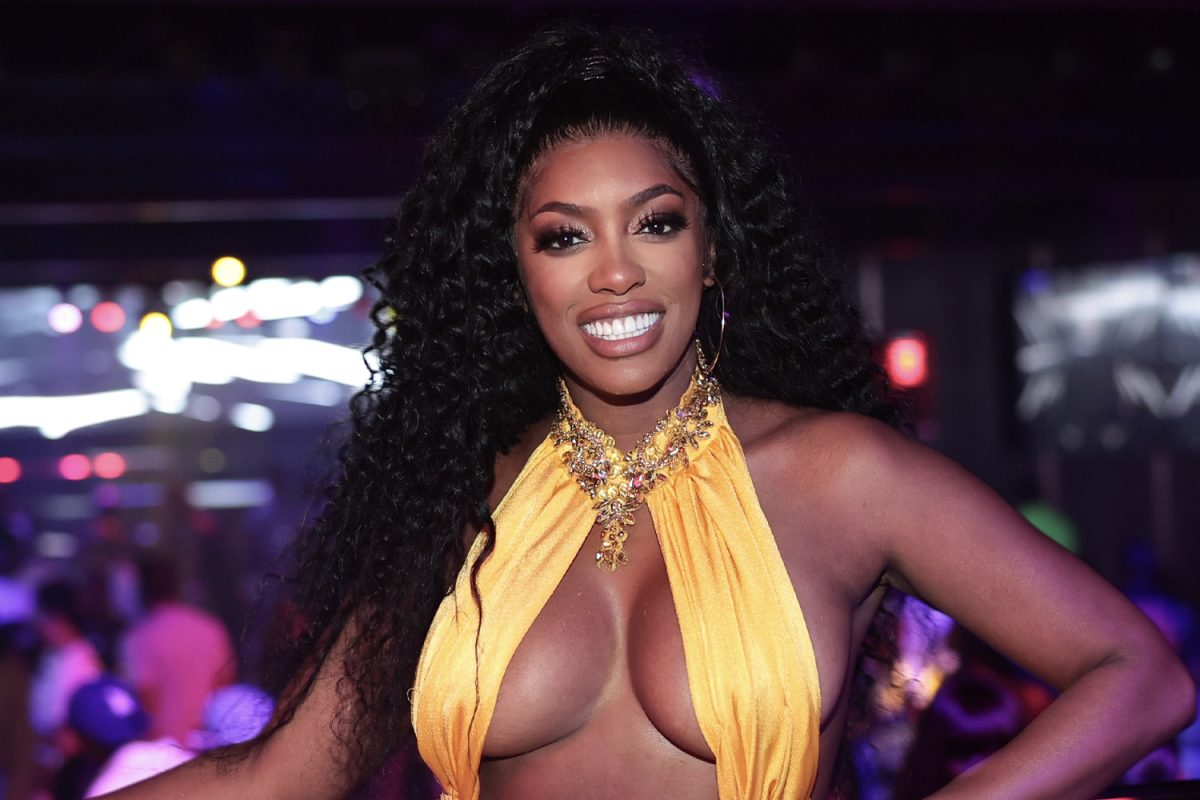 Porsha Williams smiling on a night out