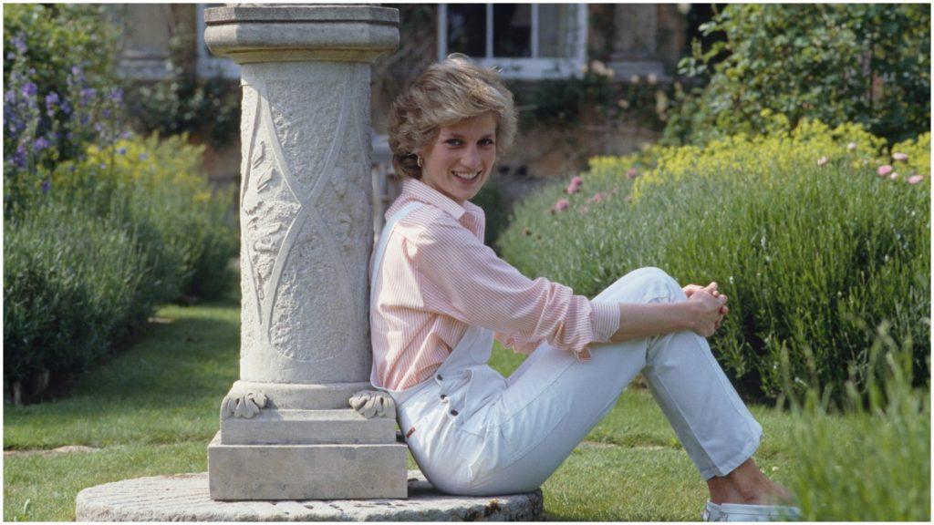 Princess Diana at home in Highgrove.
