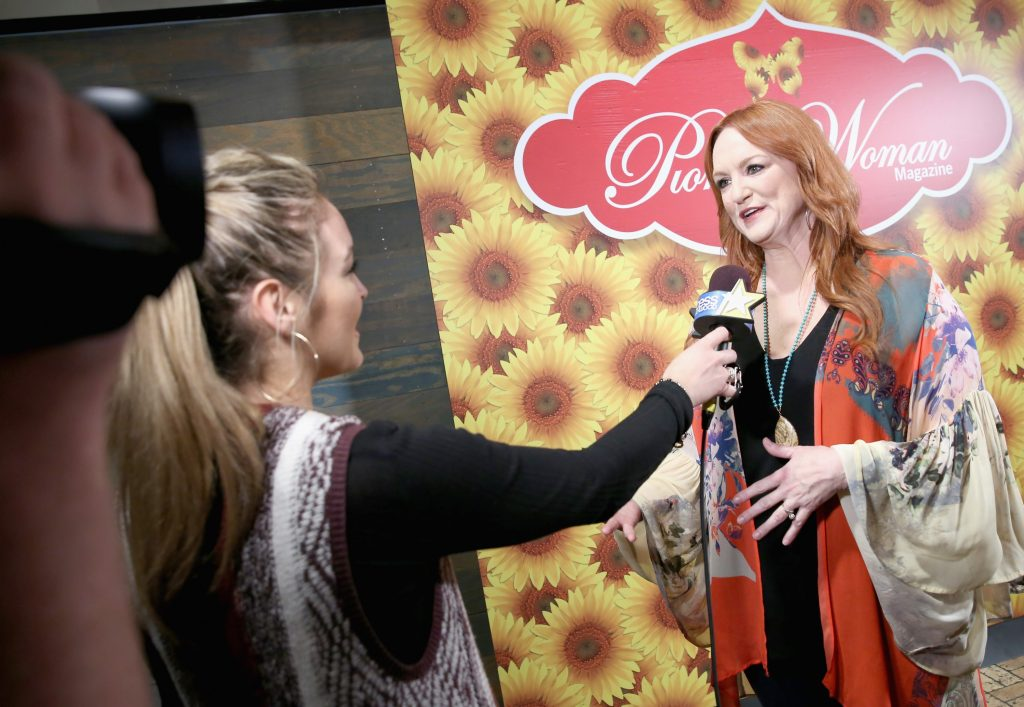 Ree Drummond giving an interview for Access Hollywood
