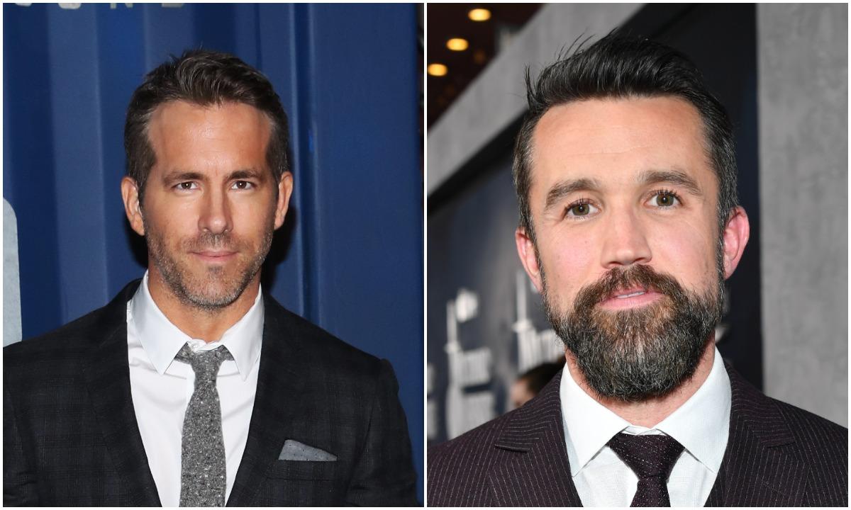 "Ryan Reynolds attends Netflix's ""6 Underground"". Rob McElhenney attends the premiere of Apple TV+'s ""Mythic Quest: Raven's Banquet"""