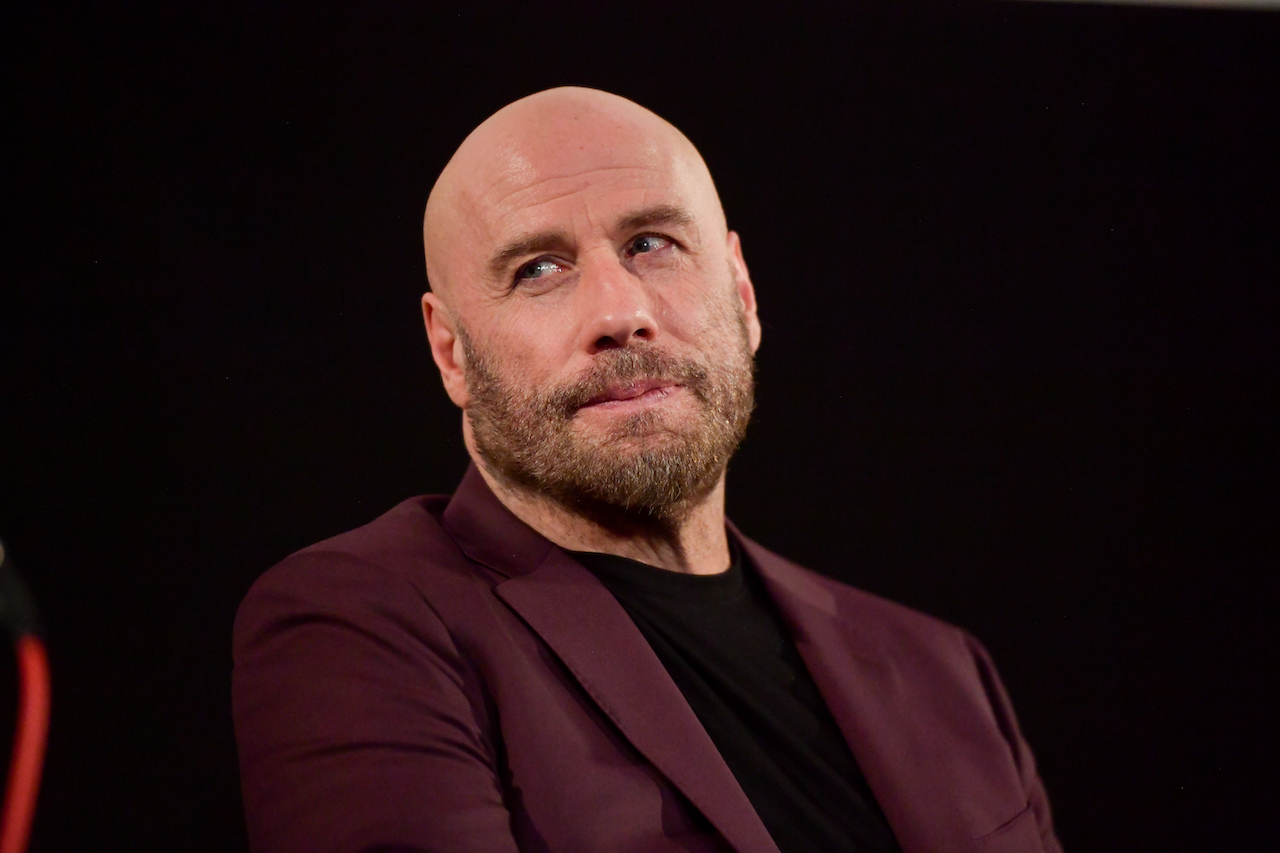 """John Travolta speaks onstage during the premiere of Quiver Distribution's """"The Fanatic"""""""