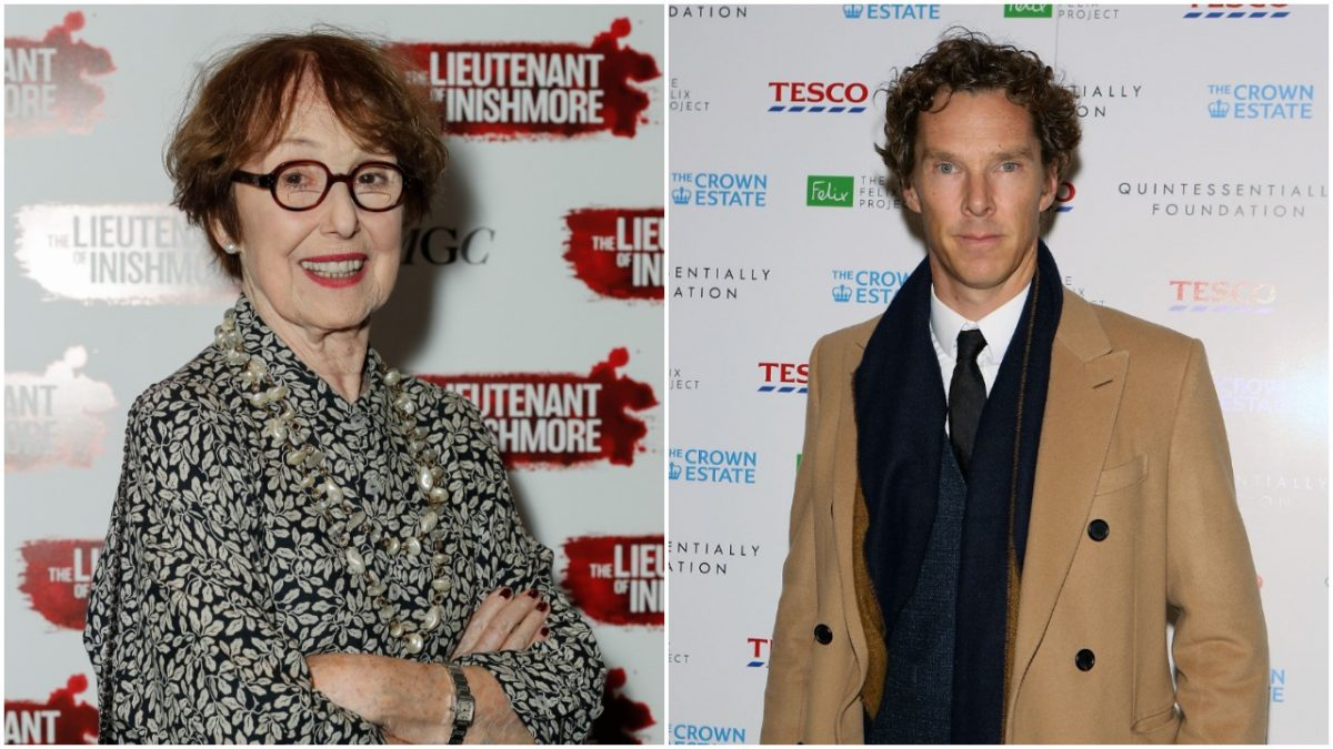 Side by side photo of Una Stubbs and Benedict Cumberbatch