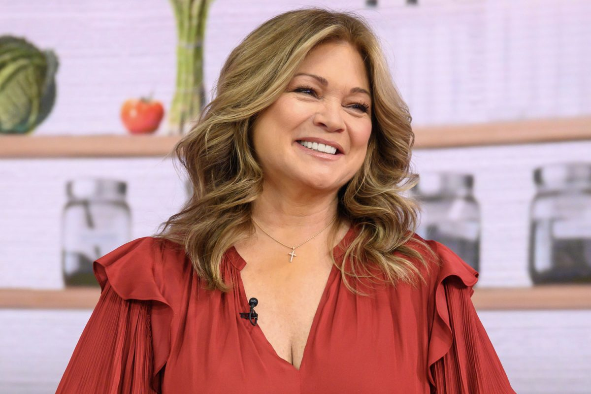 Valerie Bertinelli smiling during an appearance on 'Today'