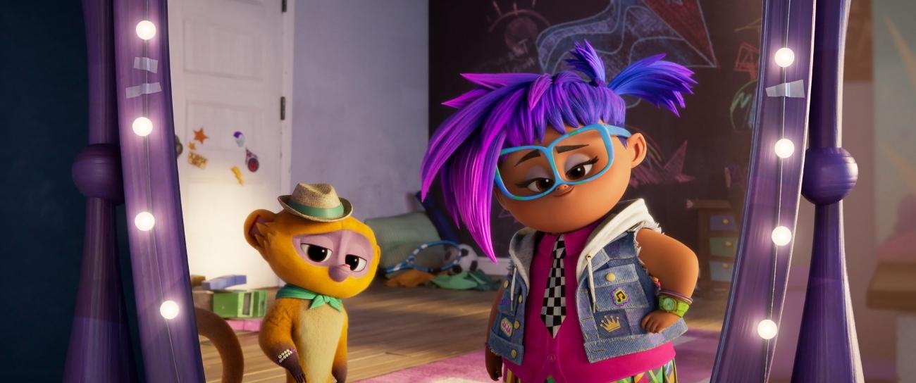 'Vivo' with Gabi (voiced by Ynairaly Simo) and Vivo (voiced by Lin-Manuel Miranda)
