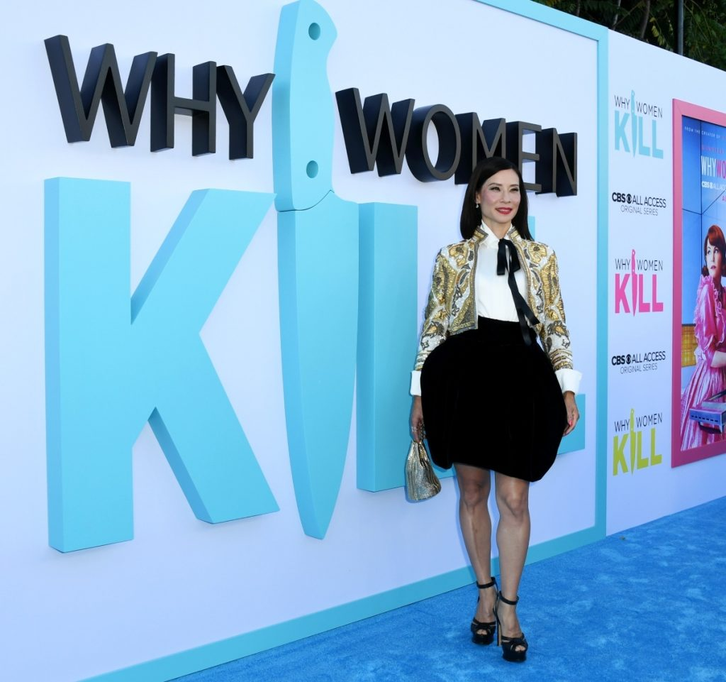 Lucy Liu attends premiere of 'Why Women Kill' on August 7, 2019 in Beverly Hills, California