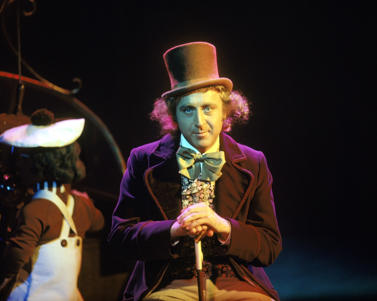 Gene Wilder as Willy Wonka on the set of the film 'Willy Wonka & the Chocolate Factory'