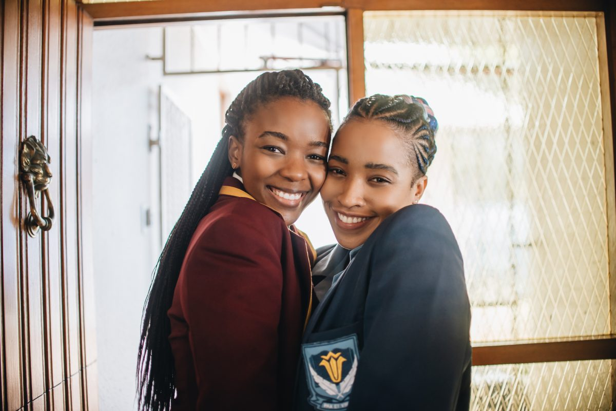 Ama Qamata and Cindy Mahlangu from 'Blood & Water' standing side by side.