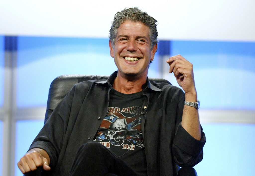 Late chef and author Anthony Bourdain