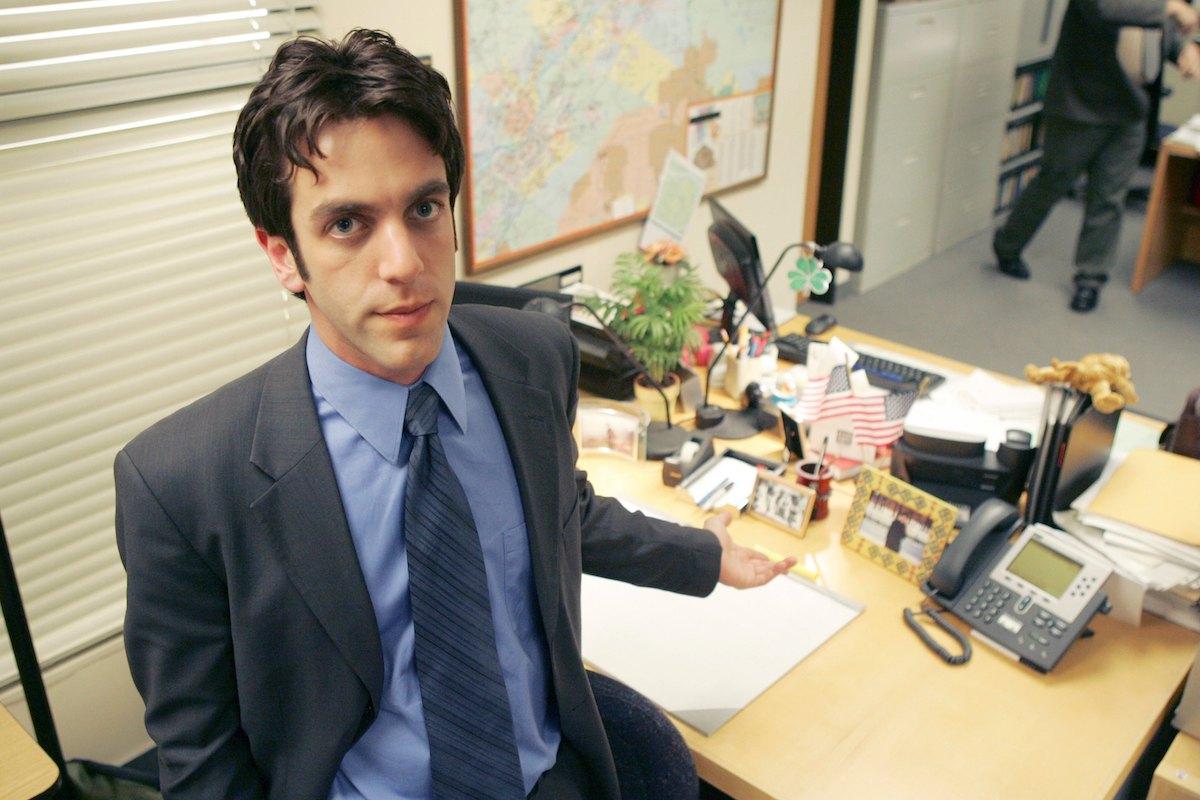 B.J. Novak filming an episode of The Office