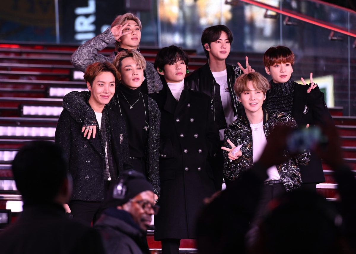J-Hope, Jimin, RM, V, Jin, Suga, and Jungkook of BTS at Dick Clark's New Year's Rockin' Eve With Ryan Seacrest 2020