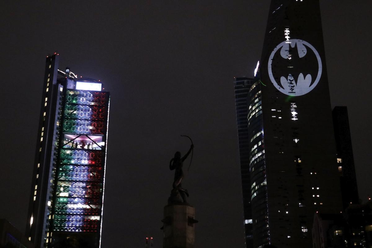 Bat signal in Mexico City