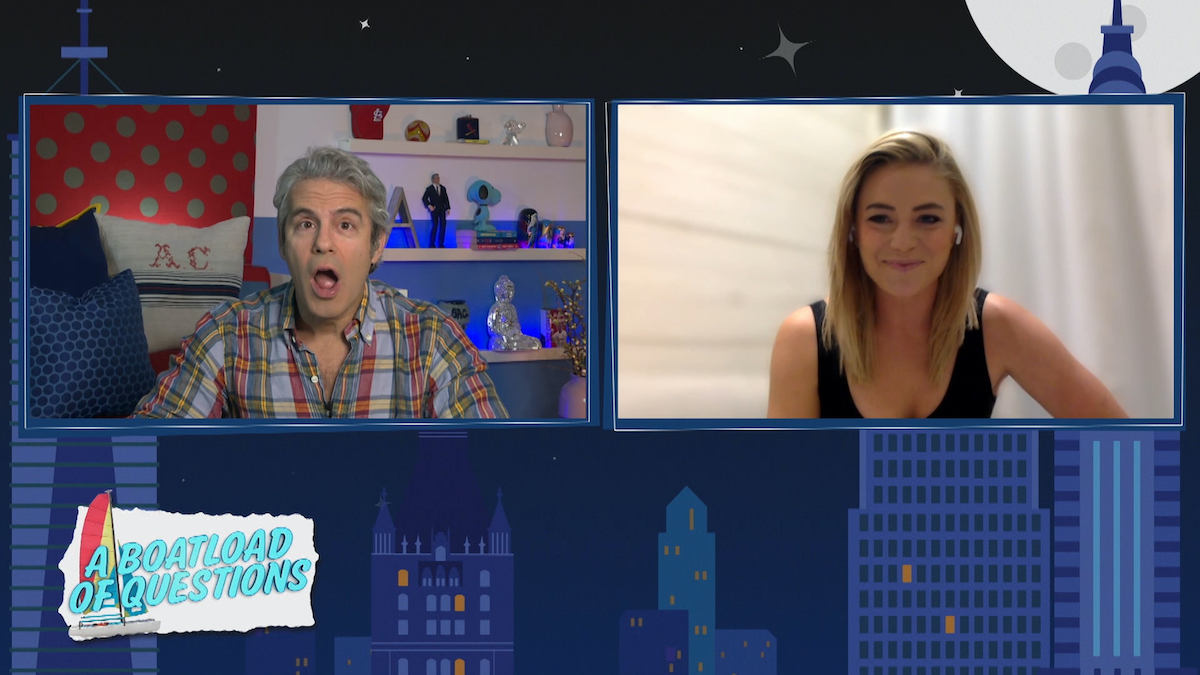 Andy Cohen looks floored when Malia White from Below Deck Mediterranean answers a question