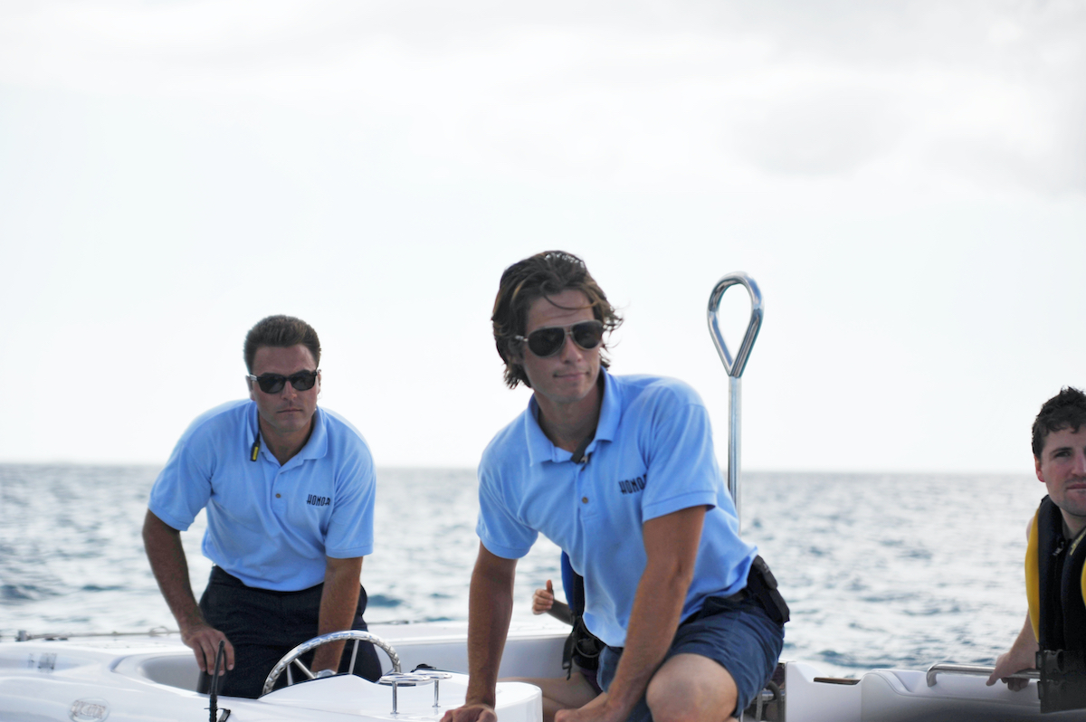Aleks Taldykin and David Bradberry from 'Below Deck' take guests on an excursion via tender.