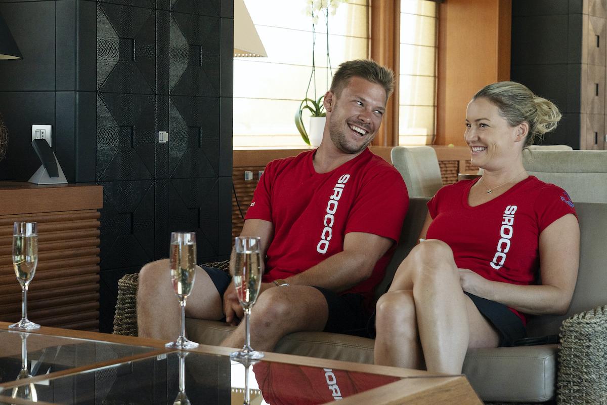 João Franco and Hannah Ferrier from Below Deck Mediterranean take a break
