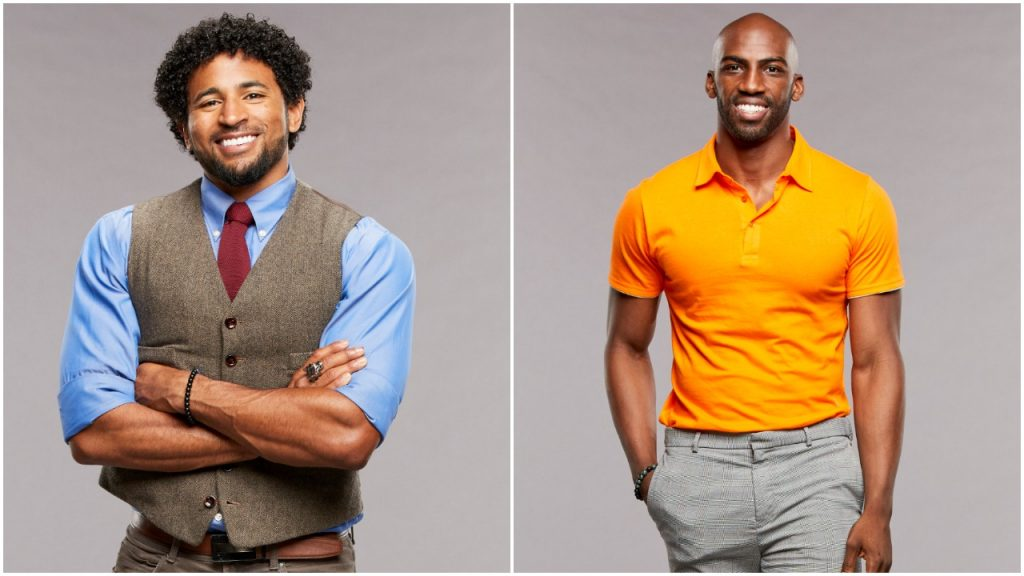 Kyland Young and Xavier Prather pose for 'Big Brother 23' cast photos