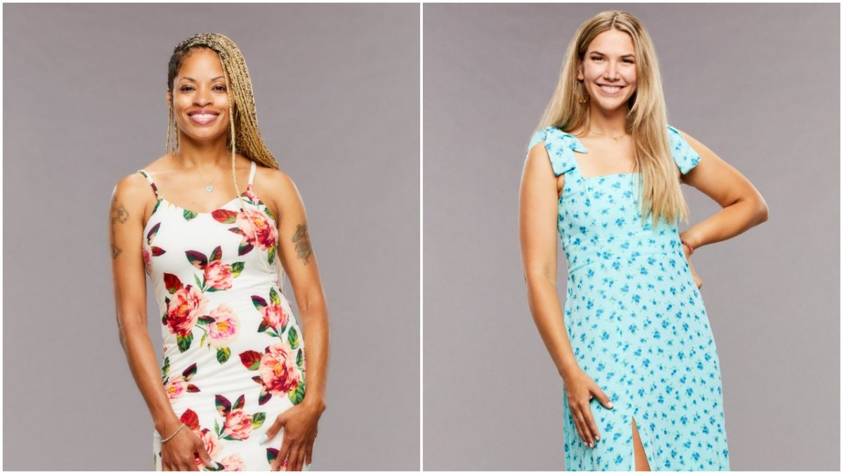 Tiffany Mitchell and Claire Rehfuss pose for 'Big Brother 23' cast photos