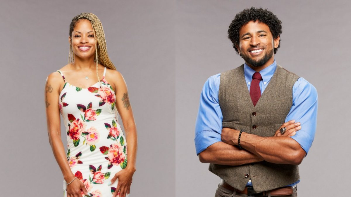Tiffany Mitchell and Kyland Young pose for 'Big Brother 23' cast photos
