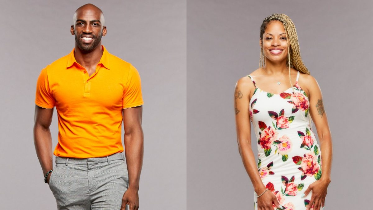 Xavier Prather and Tiffany Mitchell pose for 'Big Brother 23' cast photos