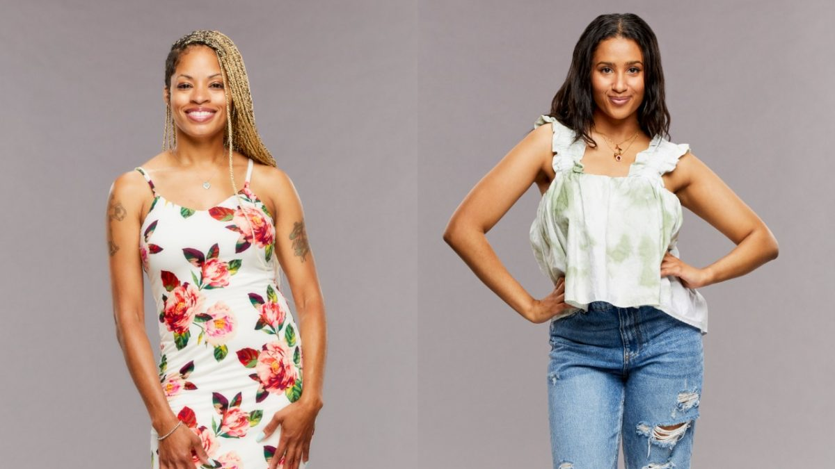 Tiffany Mitchell and Hannah Chaddha pose for 'Big Brother 23' cast photos