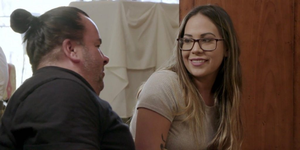Big Ed looking at smiling Liz on '90 Day: The Single Life' on discovery+