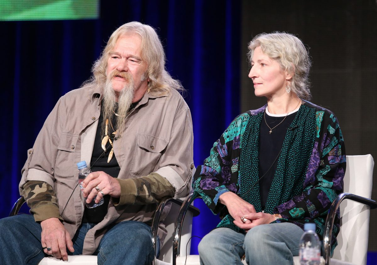 Billy Brown and Ami Brown from 'Alaskan Bush People' on stage at the 2014 TCA press tour
