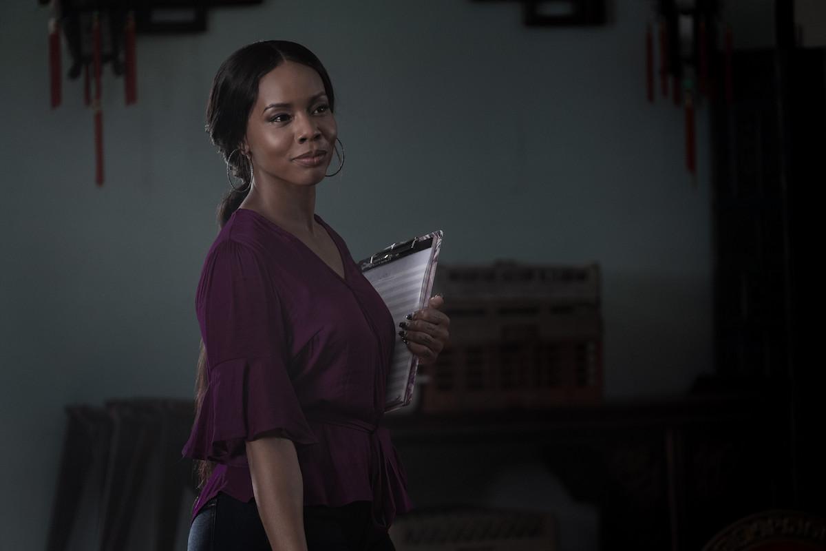 Brandee Evans as Mercedes smiles in 'P-Valley'