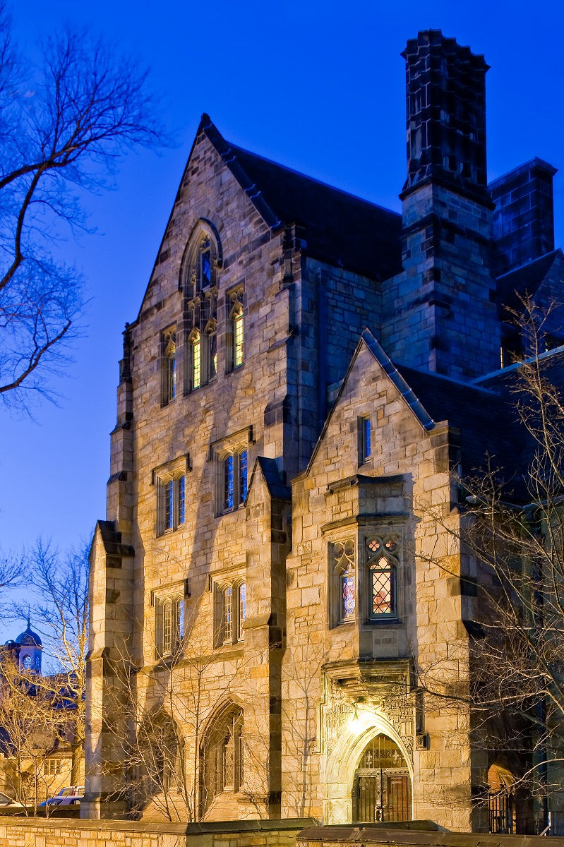Branford College seen from the library at Yale University in 2010. There were no 'Gilmore Girls' scenes filmed at Yale
