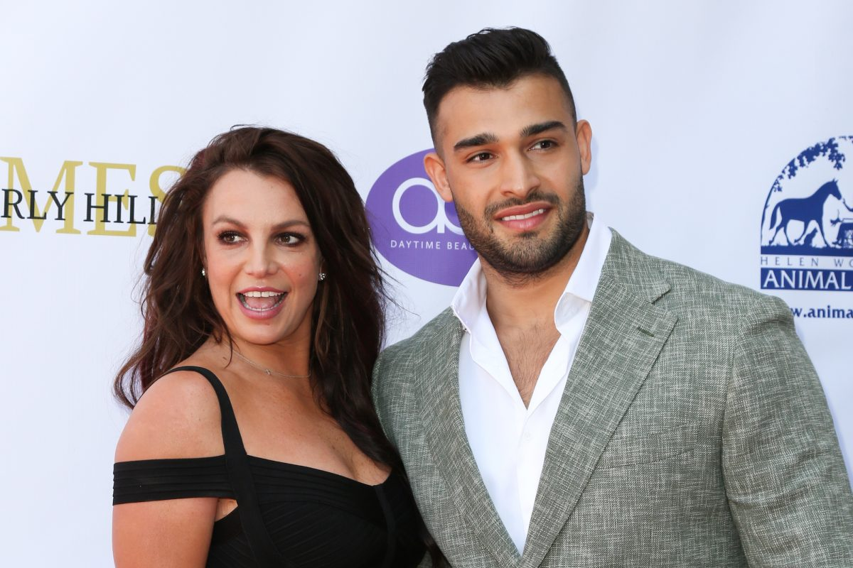Britney Spears and Sam Asghari attending the 2019 Daytime Beauty Awards