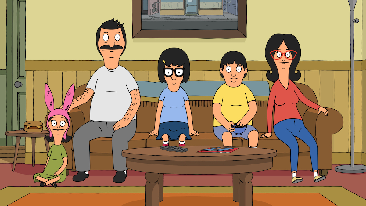 'Bob's Burgers' family sitting on the couch