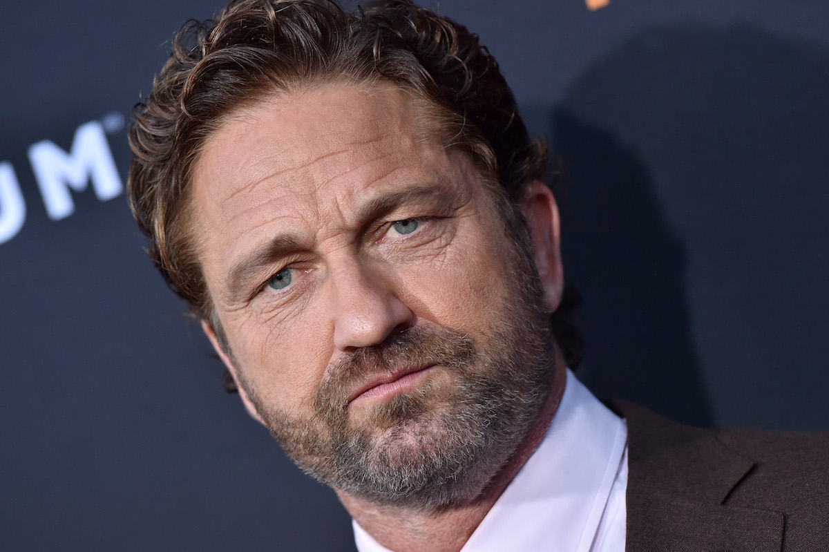 Gerard Butler on the red carpet